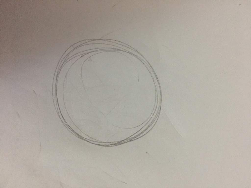 Step One: Draw A Circle On Your Paper, Make Sure It's Not Crooked