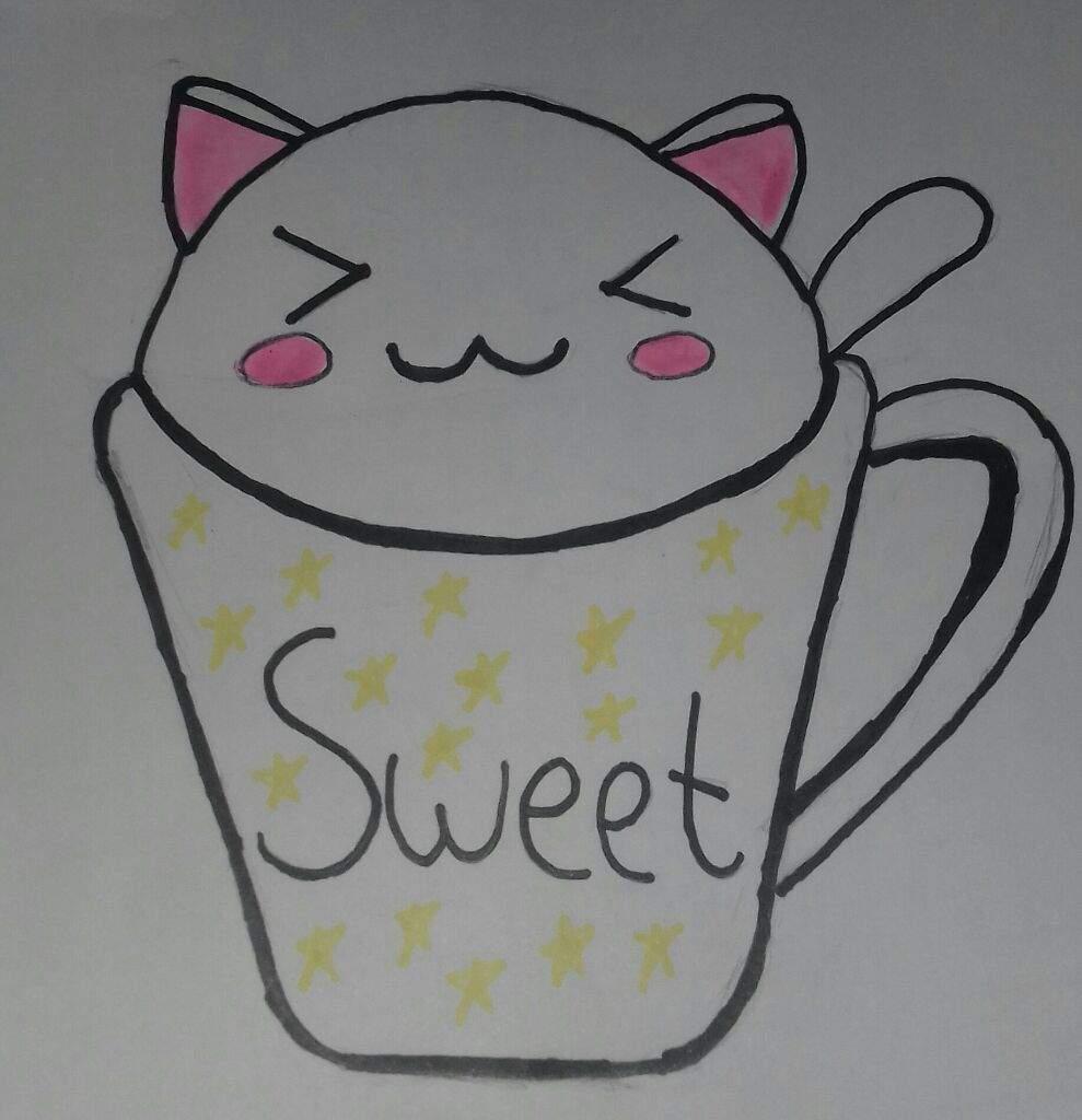 Como dibujar un gato kawaii facil y rapido gatoslovers for Comedor facil de dibujar