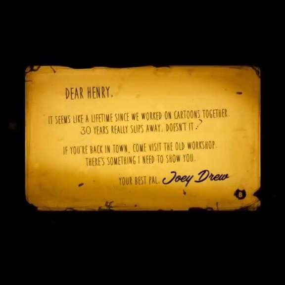 bendy and the ink machine letter