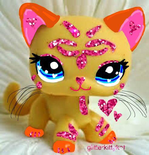 Lps Pink Glitter Shorthair Cat Edit Lps Amino