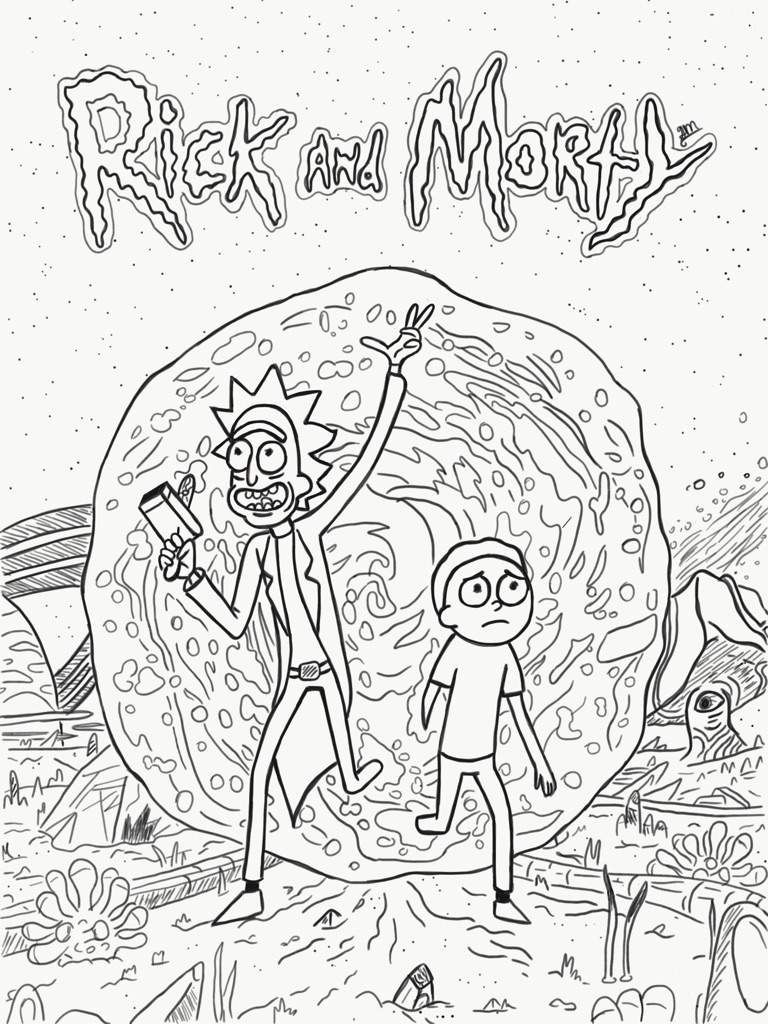Coloring Pages Rick And Morty : Rick and morty adult coloring pages