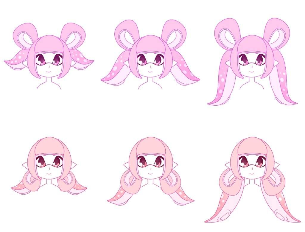 ⭐️inkling Hair Styles Part 1⭐️ Splatoon Amino