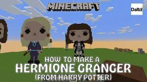 Minecraft Pixel Art . Harry Potter Hermione Granger And Ron Weasley | Harry  Potter Amino