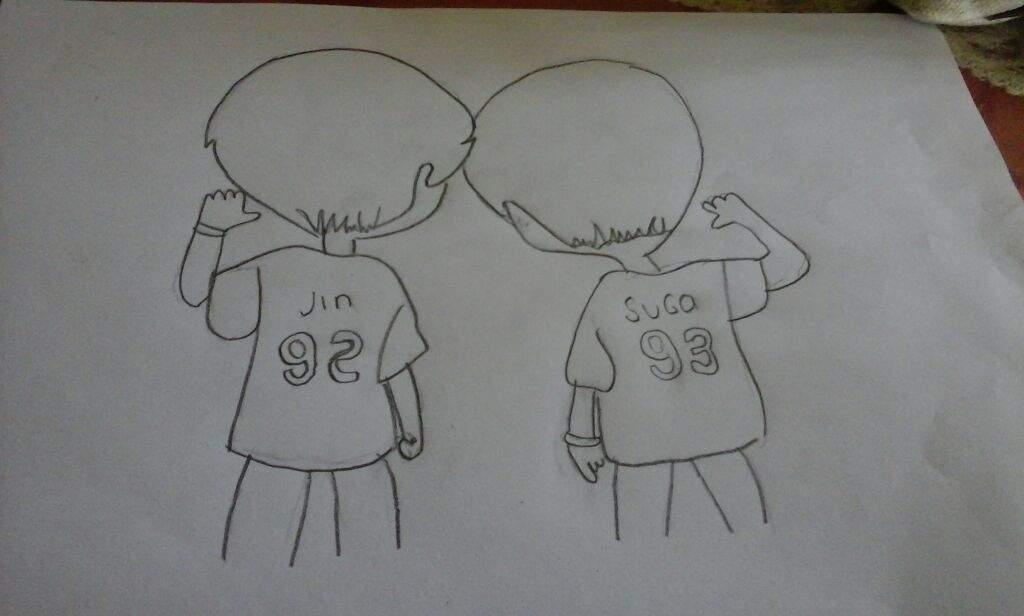 Dibujo De Jin Y Suga (chibi)