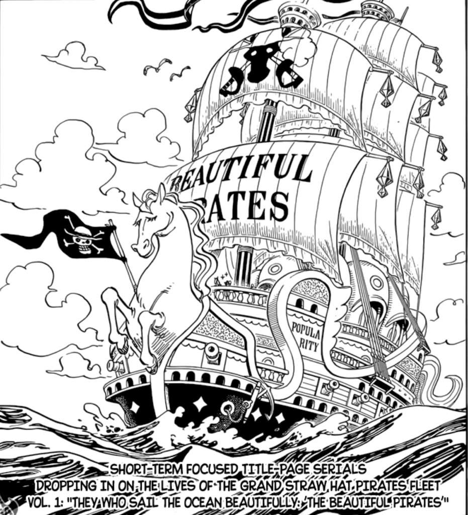 Swear word coloring book chapters - New Beginning Cover Pages Showing The Straw Hat Fleet So This Is The Sleeping White Horse Of The Forest The Ship Of Our Boi Cabbage