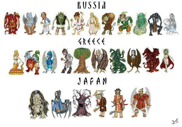 мифические существа картинки и названия