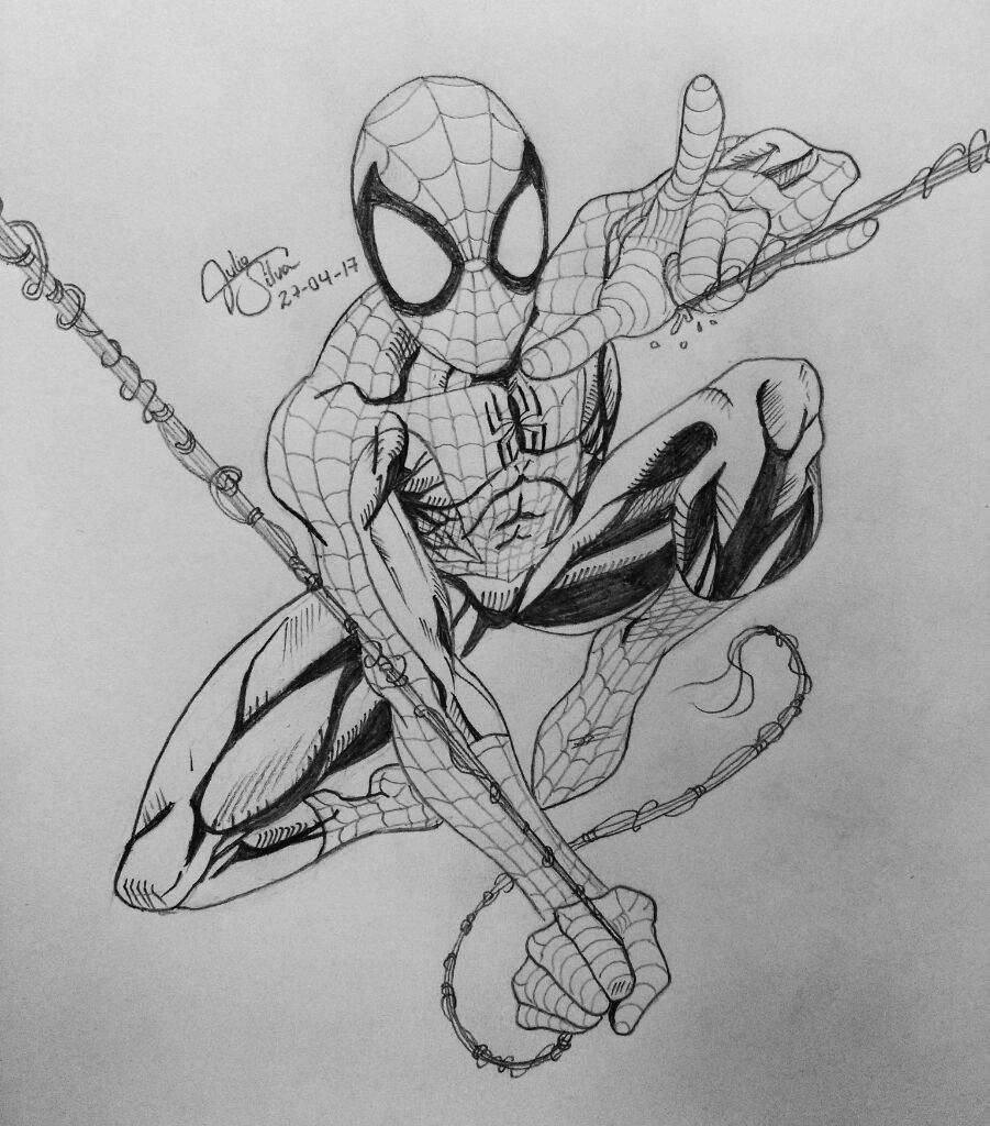 DIBUJO DE ULTIMATE SPIDER-MAN A LÁPIZ   •Cómics• Amino