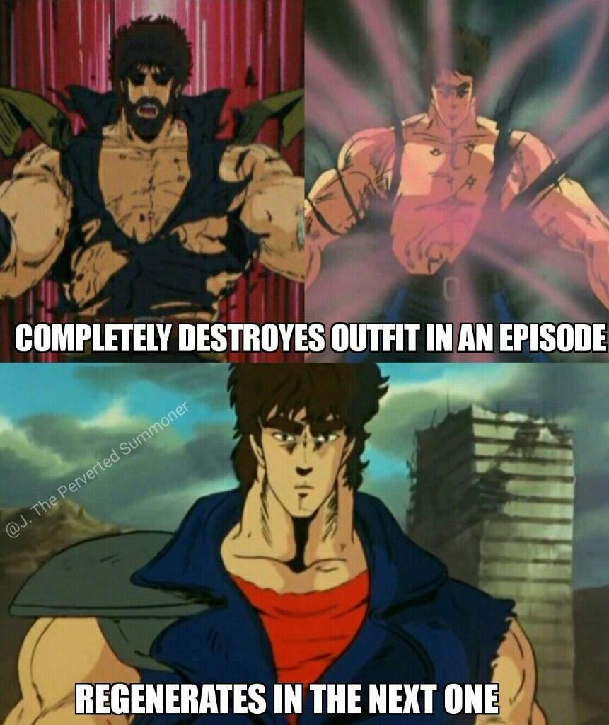Hokuto no Ken/Kenshiro Memes - (Shirt Regeneration/Begone ...