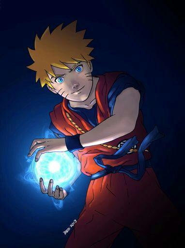 Desenho Crossover Naruto E Dragon Ball Dragon Ball