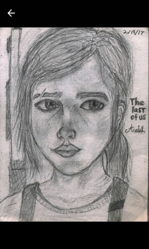 Here S Some The Last Of Us Fan Art I Did Of Ellie The Last