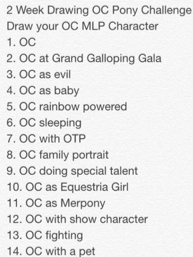 Draw Your Oc Challenge Equestria Amino