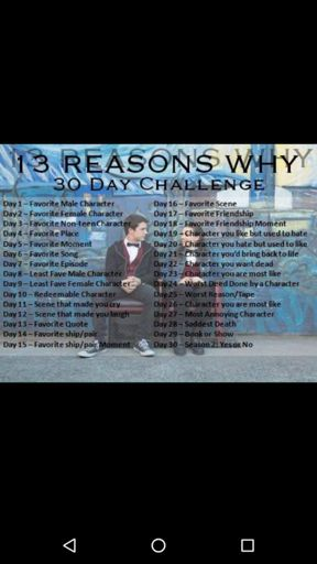 Challenge Day 10 Redeemable Character 13 Reasons Why Amino