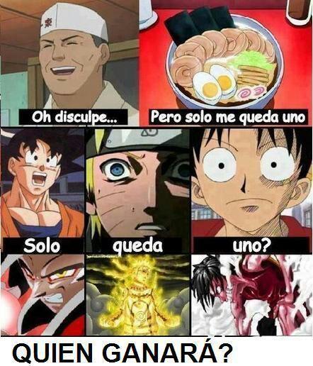 Quien Ganara La Comida Goku ,luffy O Naruto