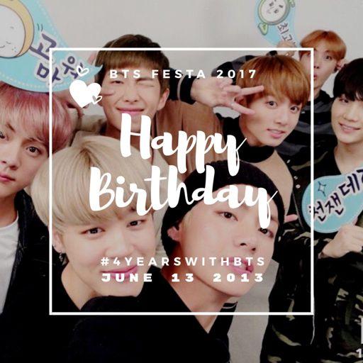 Happy Birthday BTS! BTS FESTA 2017 🎉 ️