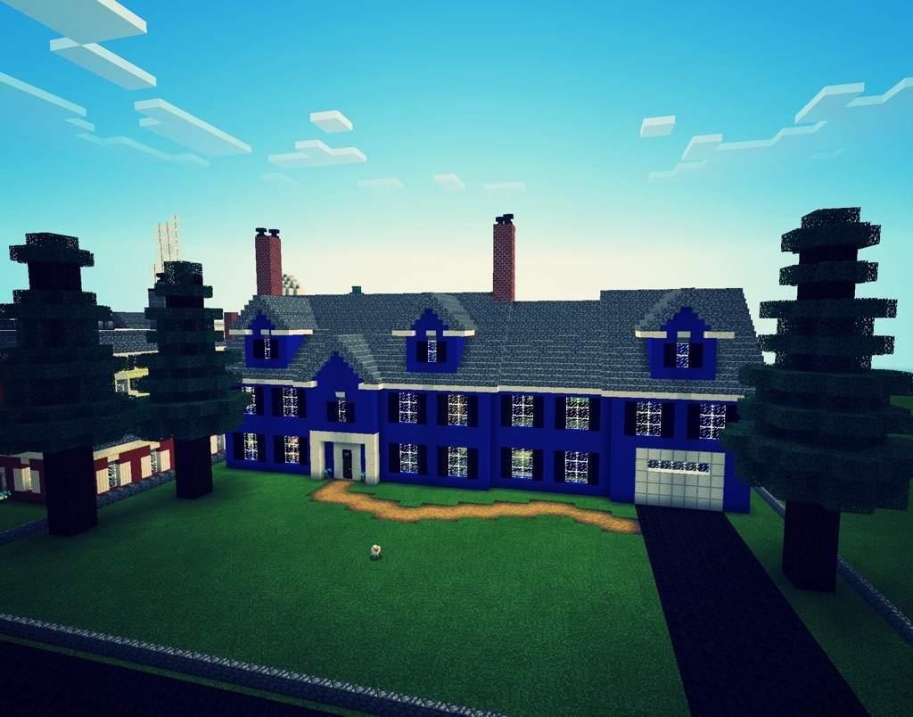Blue Concrete House Minecraft Amino
