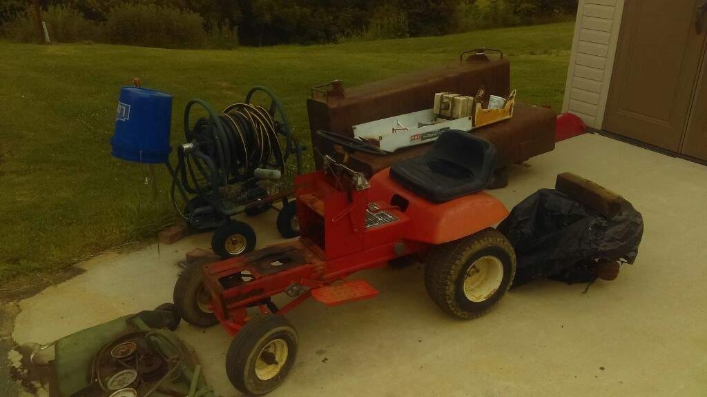 Engine swap lawn mower   Garage Amino