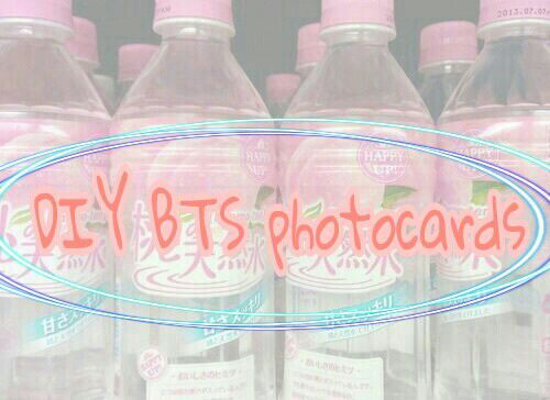 how to make bts photocards