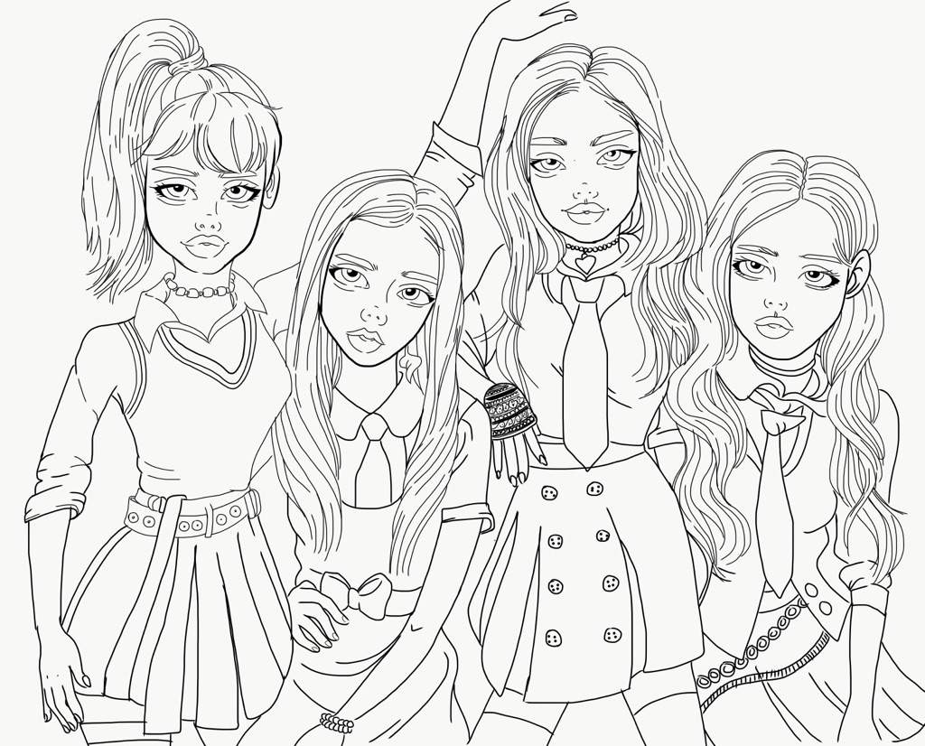 anime sisters coloring pages-#50
