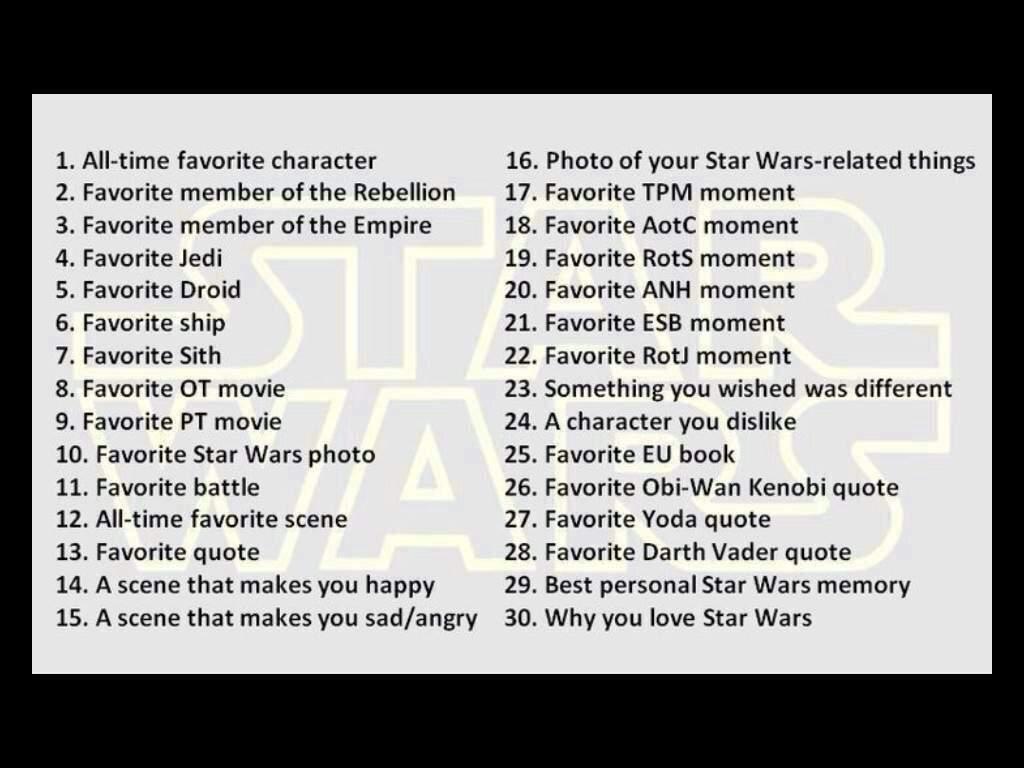 Starwars30daychallenge Day 9 Star Wars Amino