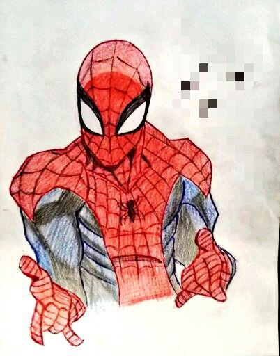 Desenho Que Eu Fiz Do Cabeça De Teia Homem Aranha Brasil