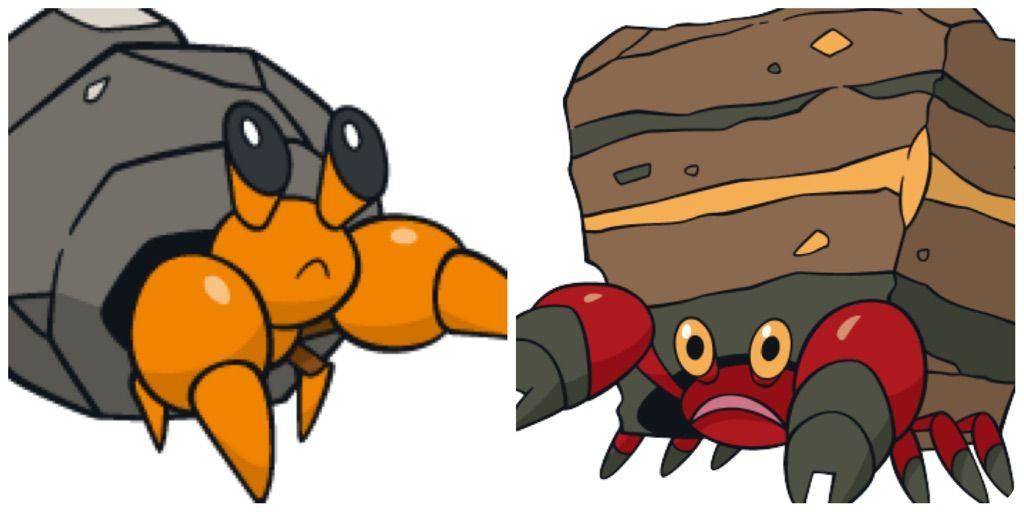 Pokemon Crustle Evolution Alolan Dwebble and Cru...