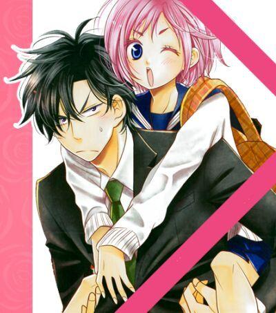 Anime girl and boy dating back