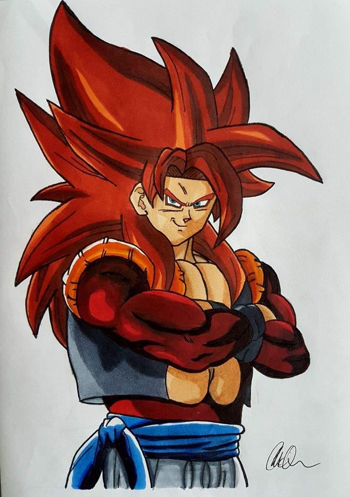 My drawing of Super Saiyan 4 Gogeta   DragonBallZ Amino