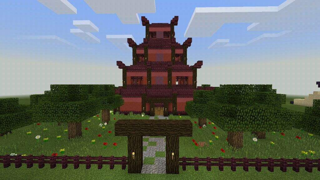 decided to build a chinese pagoda i finishes it and decided to share it with everyone on this amino this took me around 2 hours to build by my self