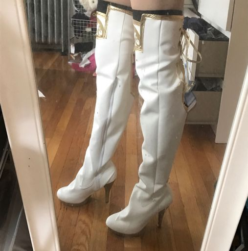 Tutorial Thigh High Pleather Boots Cosplay Amino