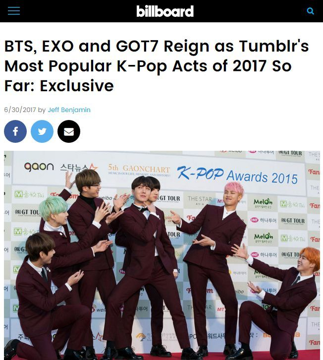 1 most searched Kpop group on Tumblr | ARMY's Amino