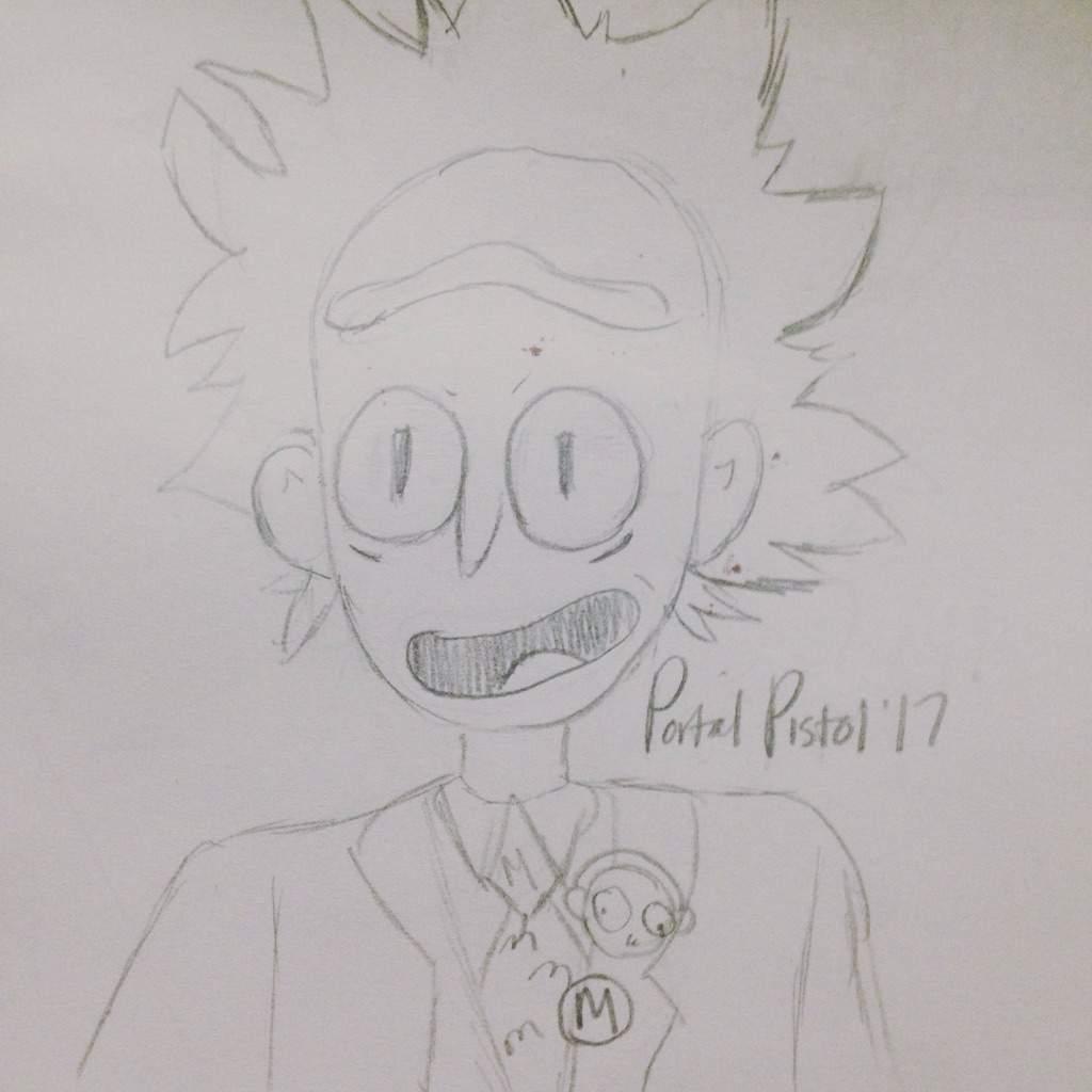 Salesman Rick Fast Doodle   Rick And Morty Amino
