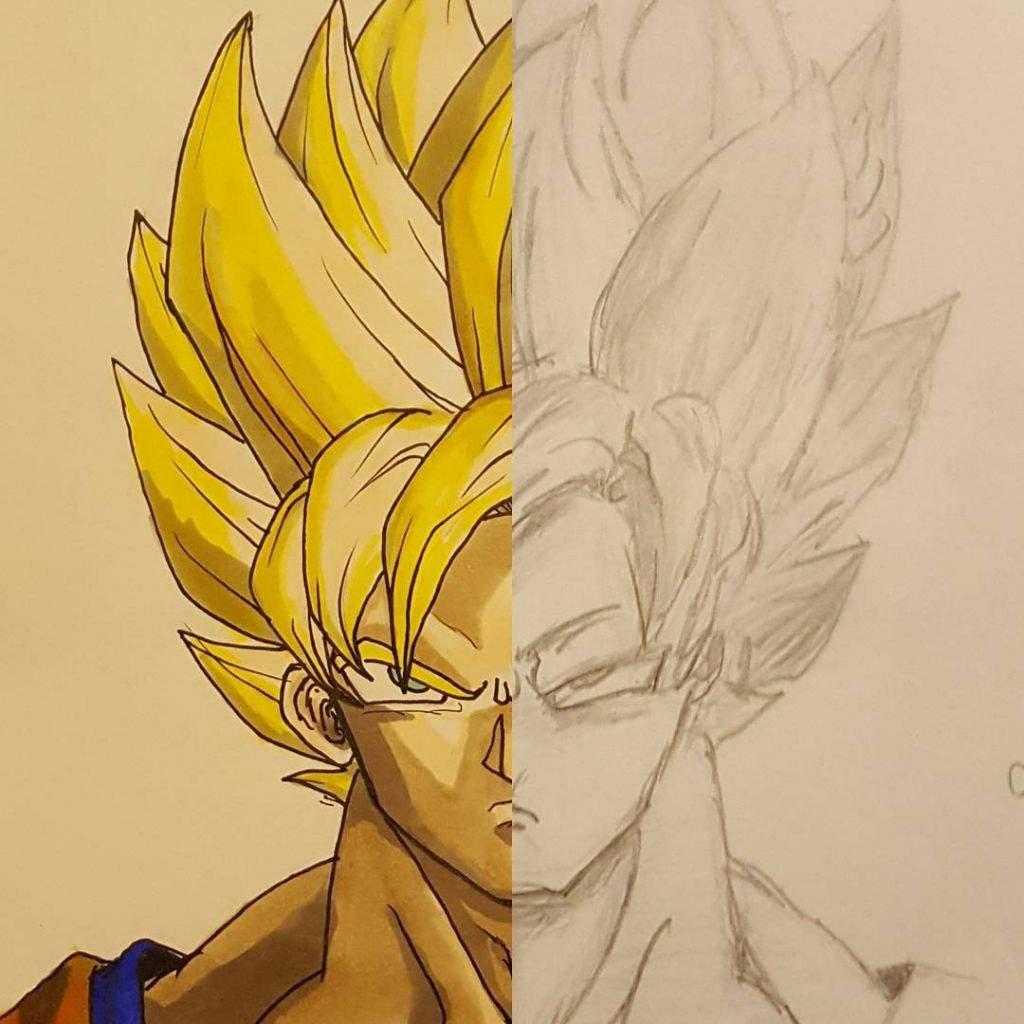 My improvement in drawing dragon ball characters dragonballz amino