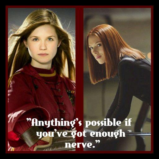 Ginny Weasley As Black Widow