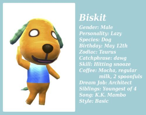 Biskit Wiki Animal Crossing Amino