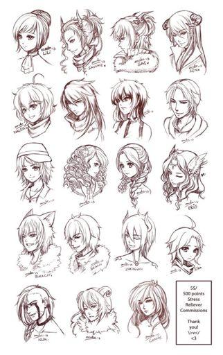 Hair References Wiki Drawing Amino