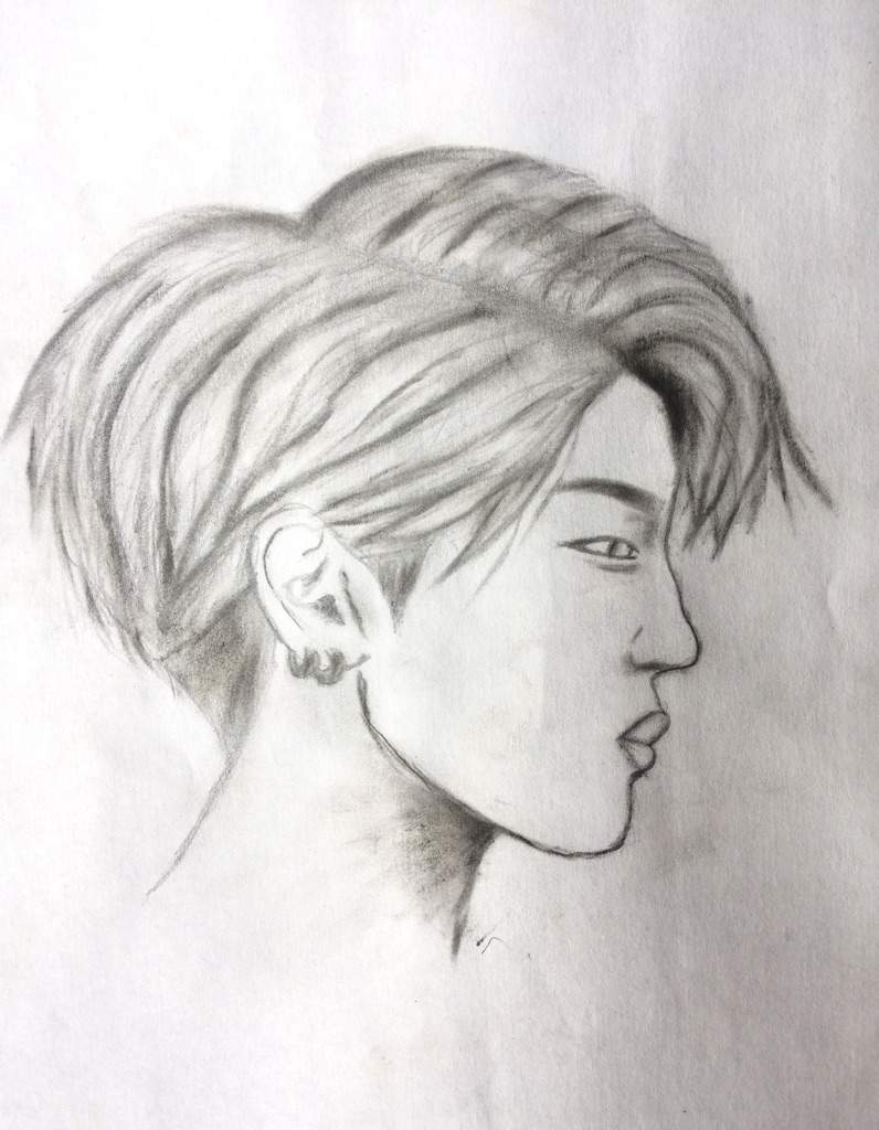 how to draw people in profile