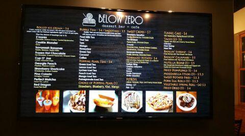 Below Zero Dessert Bar And Cafe