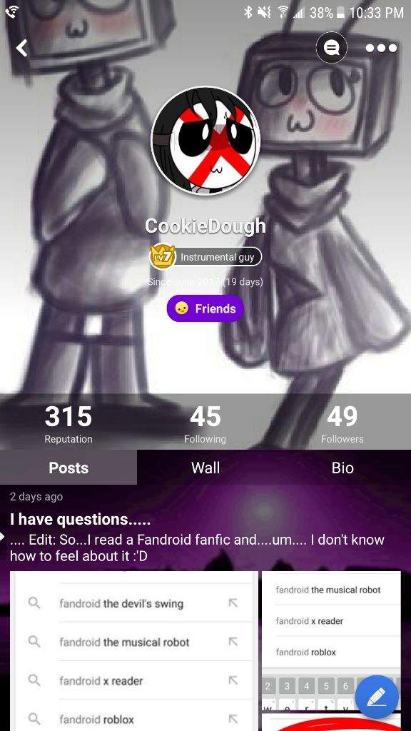 The winner for the profile pic challenge is    | Fandroid! Amino