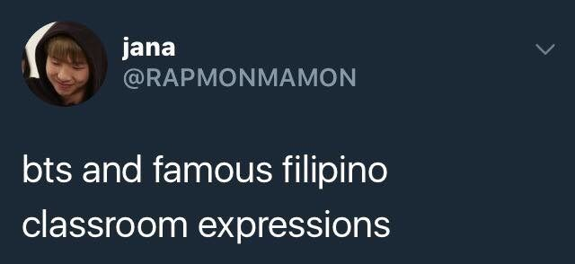 BTS AND FAMOUS FILIPINO CLASSROOM EXPRESSIONS | ARMY's Amino