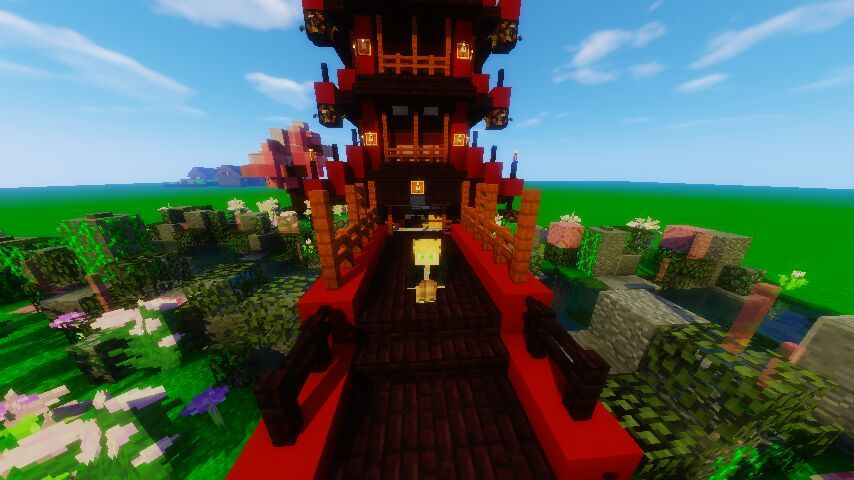 Minecraft Japanese Bridge japanese themed tower and gardenthatonegus | minecraft amino