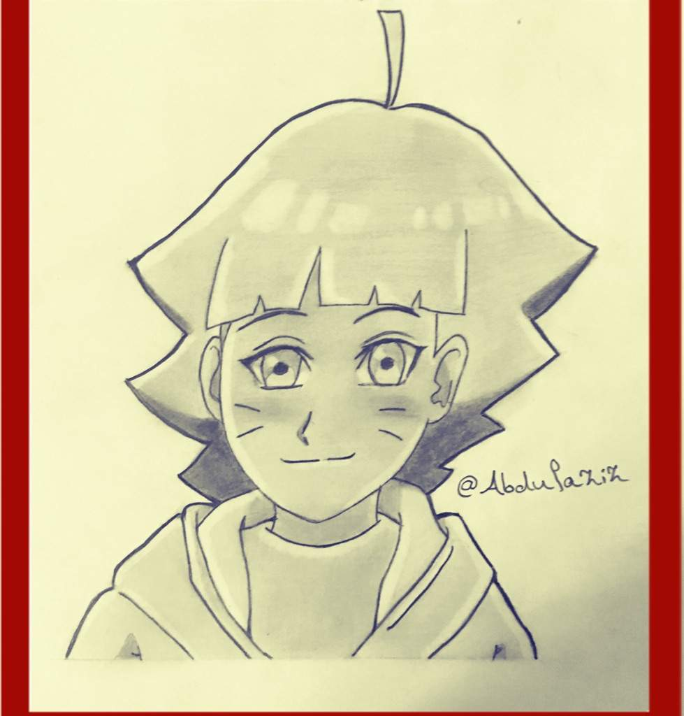 how to draw himawari uzumaki easy and simple 300 followers