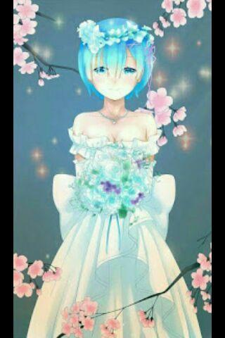 rem en vestido de novia | •anime• amino