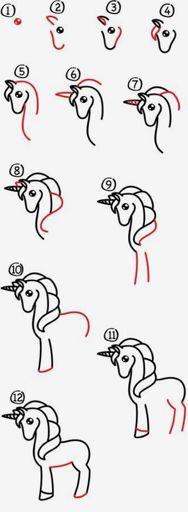 Foto Tutorial De Como Desenhar Unicórnio E Referências 3