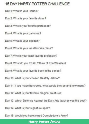 15 Day Challenge Day 13 Harry Potter Amino