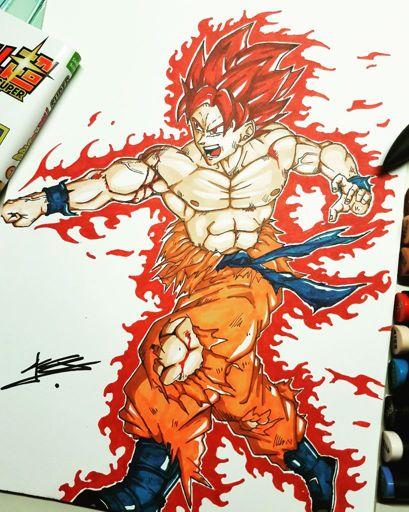 Petit dessin de comment je vois la future transformation de goku dragon ball france amino - Comment dessiner goku ...