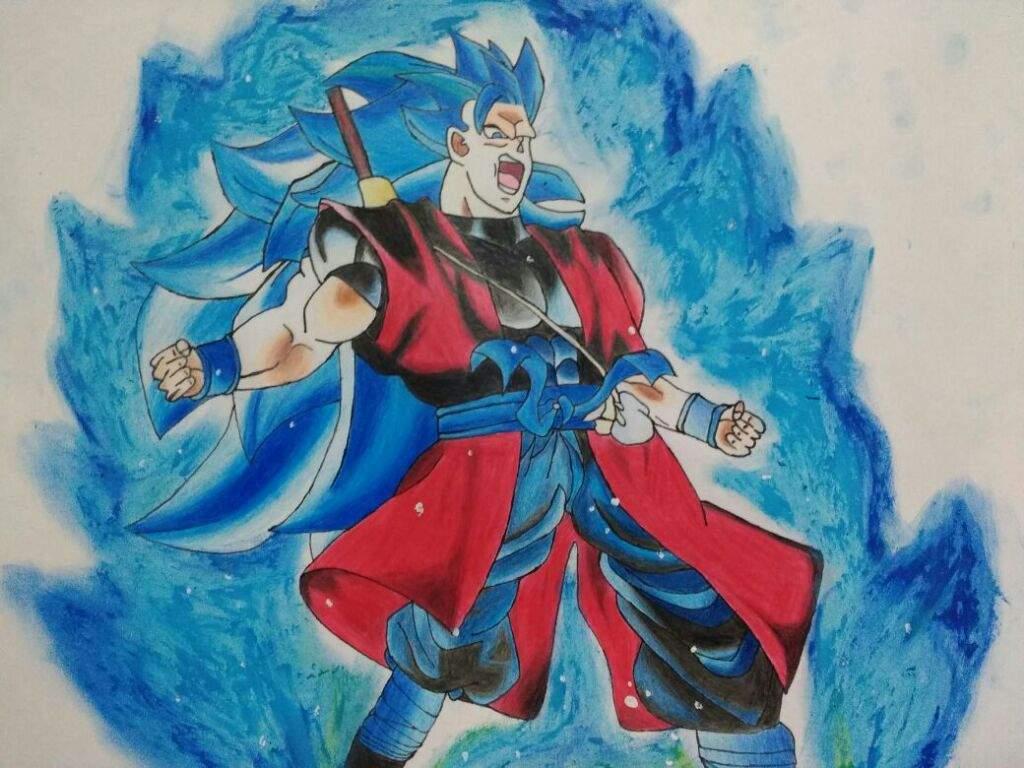 dibujo de goku ssj 3 blue   •Arte Amino• Amino
