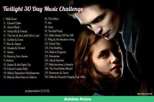 Day Five of the Thirty Day Music Challenge | The Twilight