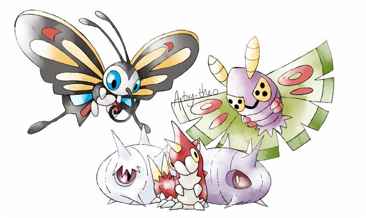 Beautifly pokemon cartoon amino - Wurmple pokedex ...