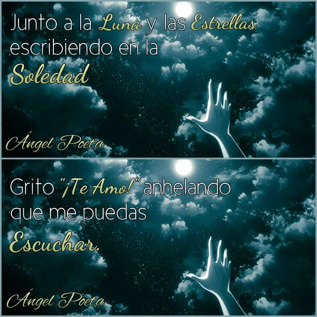 Junto A La Luna Y Las Estrellas....(frase)