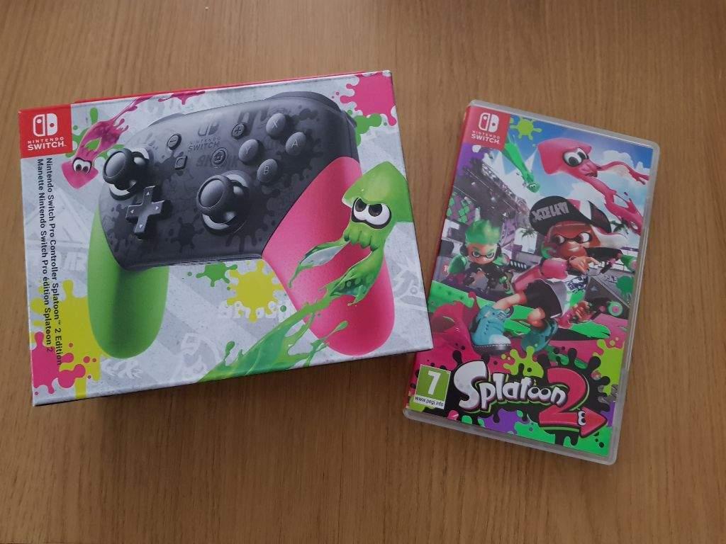 Just Got It Nintendo Switch Amino Pro Controller Splatoon 2 Edition
